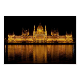 House of Parliament Building in Budapest Hungary Poster