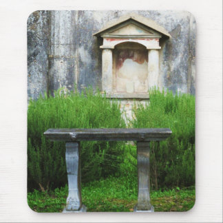 House of the Small Pagan Fountain Mouse Pad