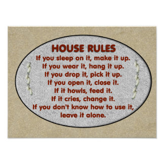 21 rules of this house posters cheap