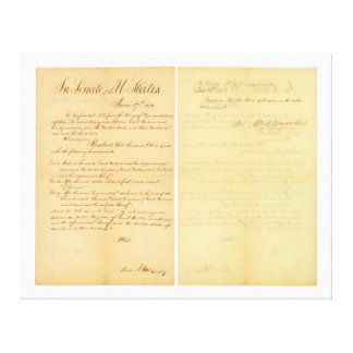 House & Senate Declaration War of 1812 HR 12A-B3 Canvas Print
