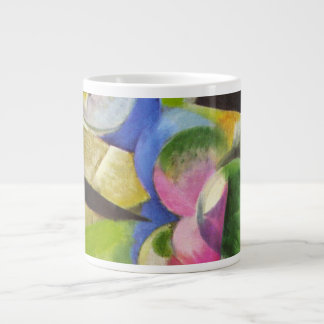 House with Trees by Franz Marc, Vintage Fine Art Large Coffee Mug