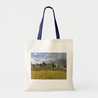 Houses at Argenteuil by Claude Monet, Vintage Art Tote Bag