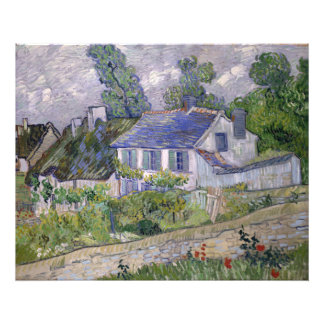 Houses at Auvers by Vincent Van Gogh Photographic Print