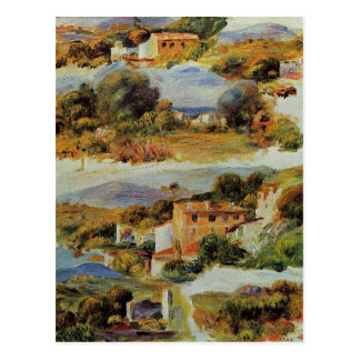 Houses at Cagnes by Pierre-Auguste Renoir Postcard