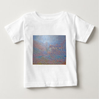 Houses at Falaise in the Fog by Claude Monet Baby T-Shirt