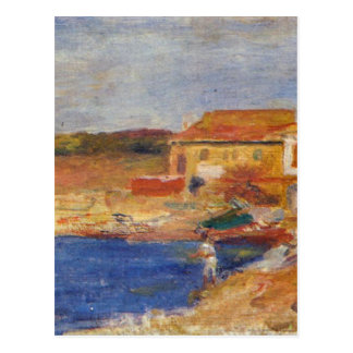 Houses by the Sea by Pierre-Auguste Renoir Postcard