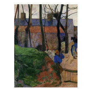 Houses in le Pouldu by Paul Gauguin Postcard