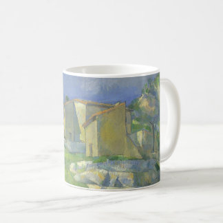 Houses in Provence by Paul Cezanne, Vintage Art Coffee Mug