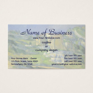 Houses in Provence; the Riaux Valley by Cezanne Business Card