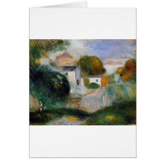 Houses in the Trees by Pierre-Auguste Renoir Card