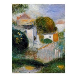 Houses in the Trees by Pierre-Auguste Renoir Postcard