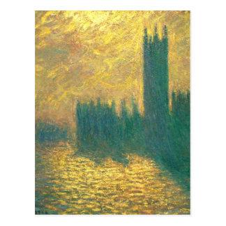 Houses of Parliament by Claude Monet Postcard