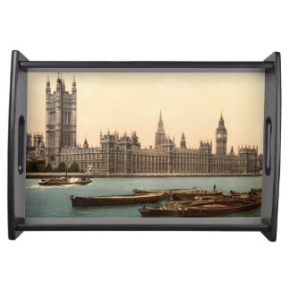Houses of Parliament, London, England Serving Tray