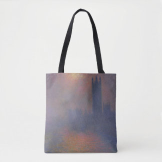 Houses of Parliament, London, with the Sun Breaki Tote Bag