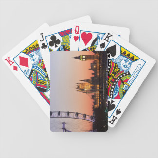 Houses of Parliament & the London Eye Bicycle Playing Cards