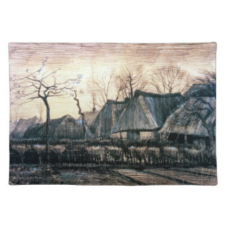 Houses with Thatched Roofs by Vincent Van Gogh Placemat