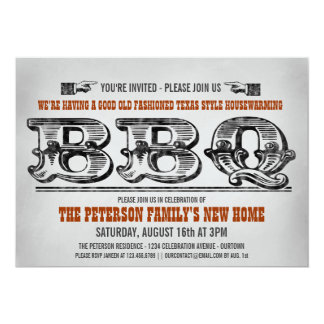 Housewarming Party Barbeque Invitations