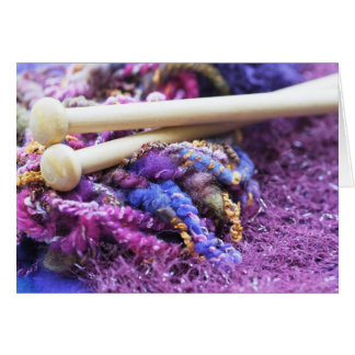 Housework and Knitting Greeting Card