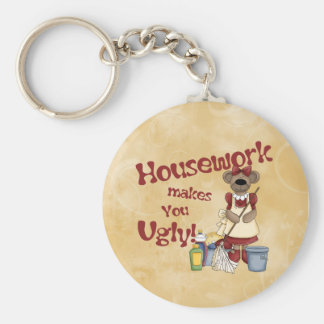 Housework Basic Round Button Key Ring
