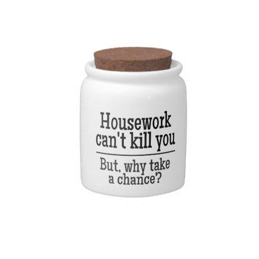 HOUSEWORK candy jar