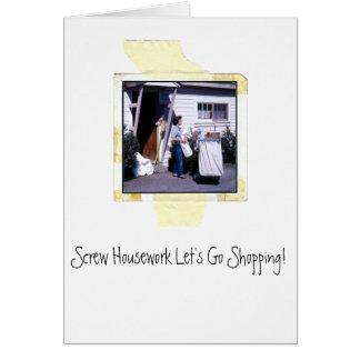 Housework Humor Greeting Card