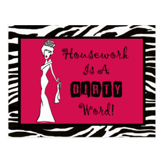 Housework Is a DIRTY Word postcards