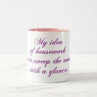 Housework Two-Tone Coffee Mug