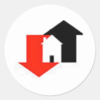 Housing Market Round Sticker