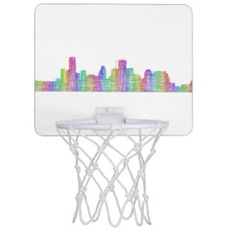 Houston city skyline mini basketball hoop
