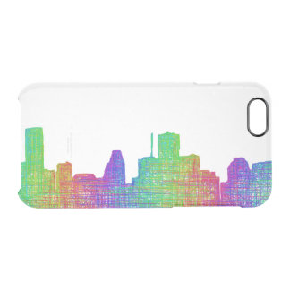 Houston skyline clear iPhone 6/6S case