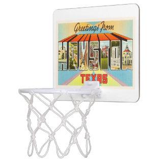 Houston Texas TX Old Vintage Travel Souvenir Mini Basketball Hoop