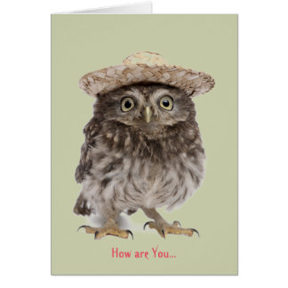 How are you card, Greeting Card, keeping in touch Note Card