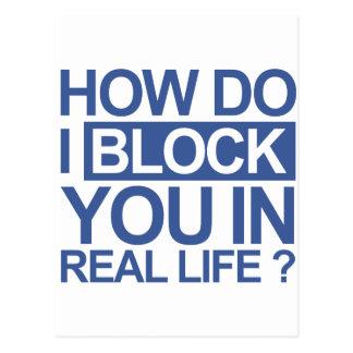 How do I block you Postcard