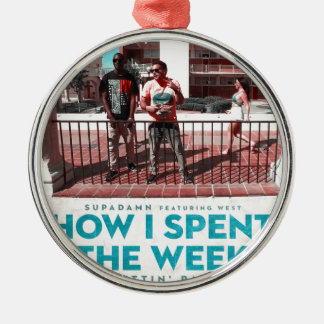 How I Spent the Week (Gettin' Paid) Cover Christmas Ornament
