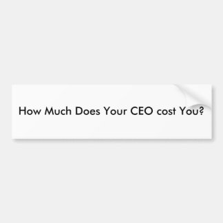 How Much Does Your CEO cost You? Car Bumper Sticker