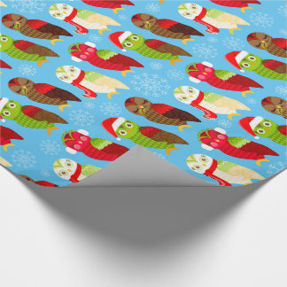 How Now Holiday Owls Wrapping Paper