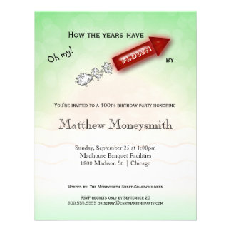 How The Years Have Flown By - Milestone Birthday Invitations