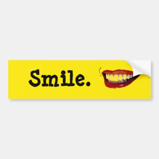 How to Smile Bumper Sticker