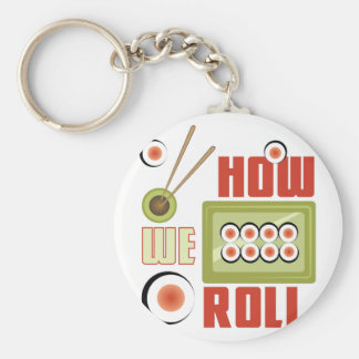 How We Roll Basic Round Button Key Ring