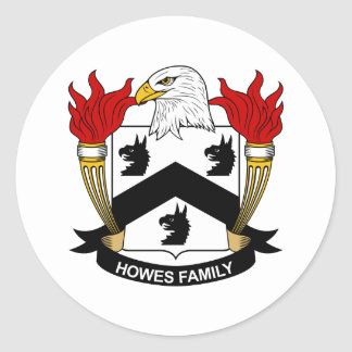 Howes Family Crest Round Sticker
