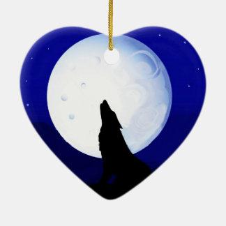 Howlin Coyote - Tucson Arizona Ceramic Heart Decoration