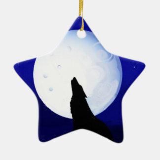 Howlin Coyote - Tucson Arizona Ceramic Star Decoration