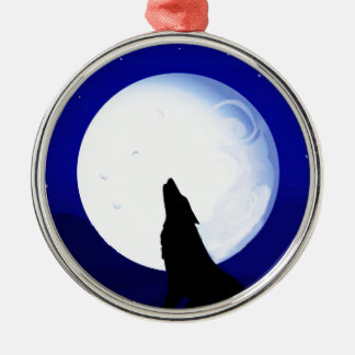 Howlin Coyote - Tucson Arizona Silver-Colored Round Decoration