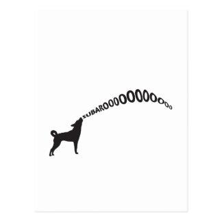 Howling Subaru Dog Postcard