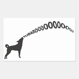Howling Subaru Dog Rectangular Sticker