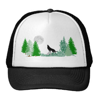 Howling Wolf  Wide View Cap