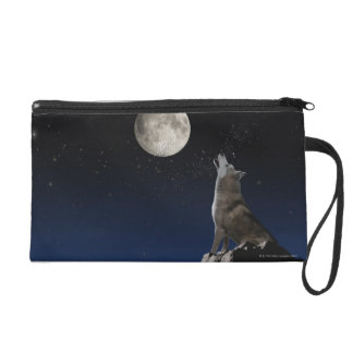 Howling Wolf Wristlet Clutches