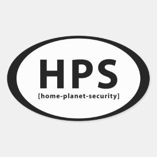 HPS OVAL STICKER