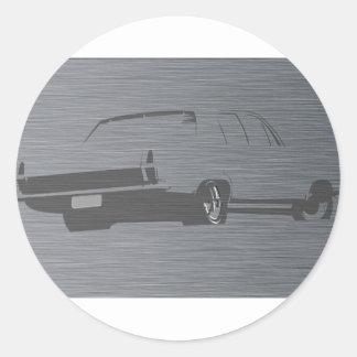 HR Holden Stainless Steel Classic Round Sticker