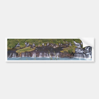 Hraunfossar waterfall in Iceland bumper sticker